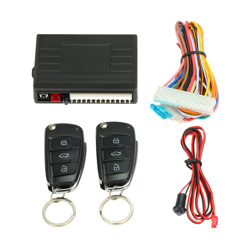 Universal Car Door Lock Keyless Entry with Trunk Release Button Remote Central Locking Kit for Audi Style in Burglar Alarm from Automobiles Motorcycles