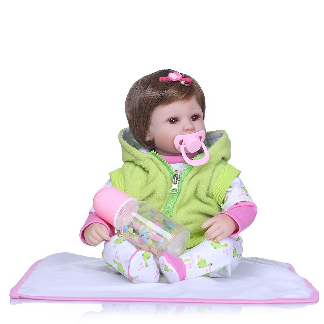 Kids Soft Silicone Realistic With Clothes 2-4Years Reborn Unisex Baby Collectibles, Gift, Playmate DollKids Soft Silicone Realistic With Clothes 2-4Years Reborn Unisex Baby Collectibles, Gift, Playmate Doll