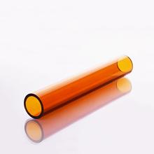 Brązowe wysokiej jakości szkło borokrzemowe O D 45mm Thk 2 8mm L 200mm 250mm 300mm żółta szklanka odporna na wysoką temperaturę tanie tanio NoEnName_Null Kolby Brown high borosilicate glass tube O D 45mm