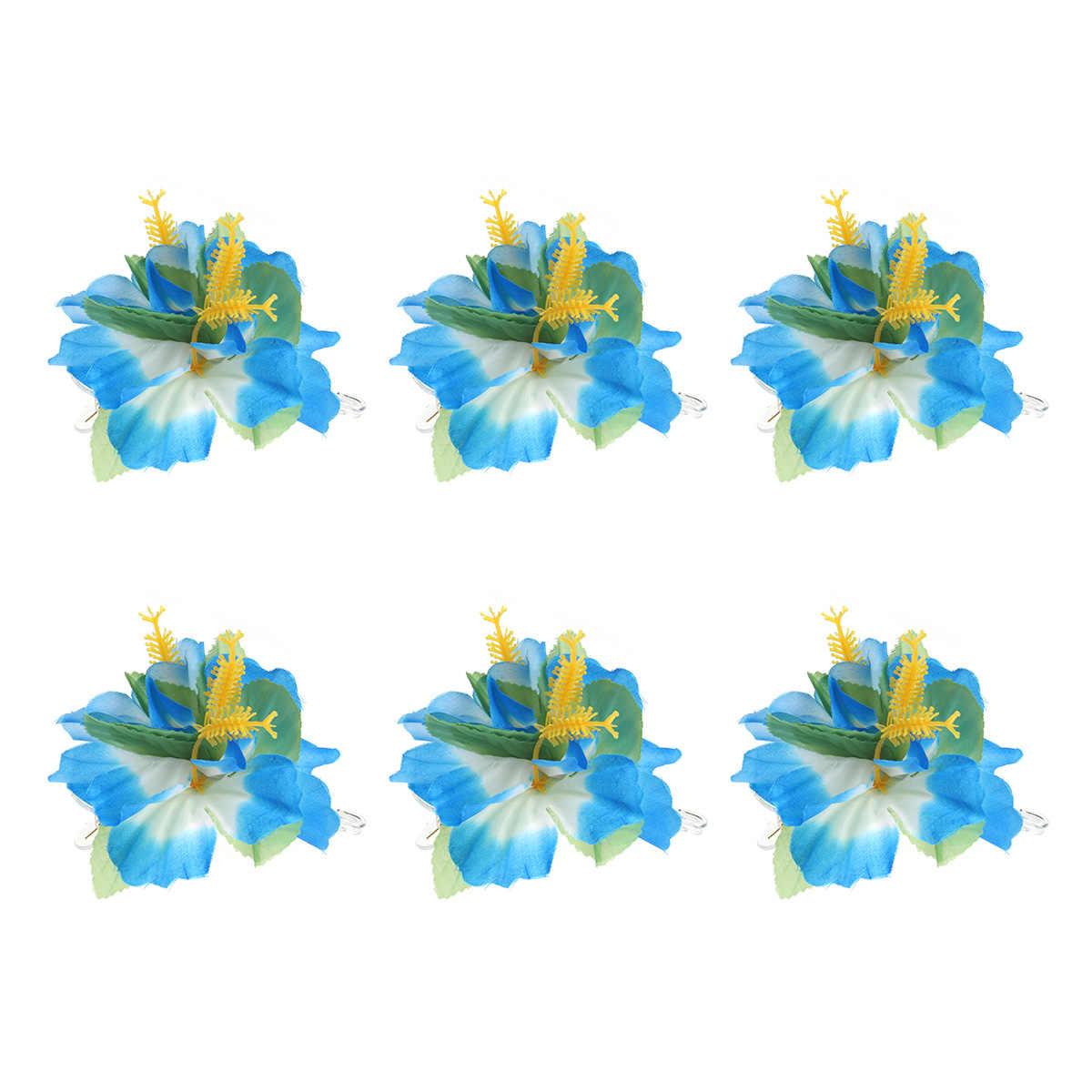 6 шт. Гавайские цветы Заколки для волос Свадебная заколка тропический пляж венчания цветок гибискуса Для женщин вечерние заколку для волос шпилька аксессуары