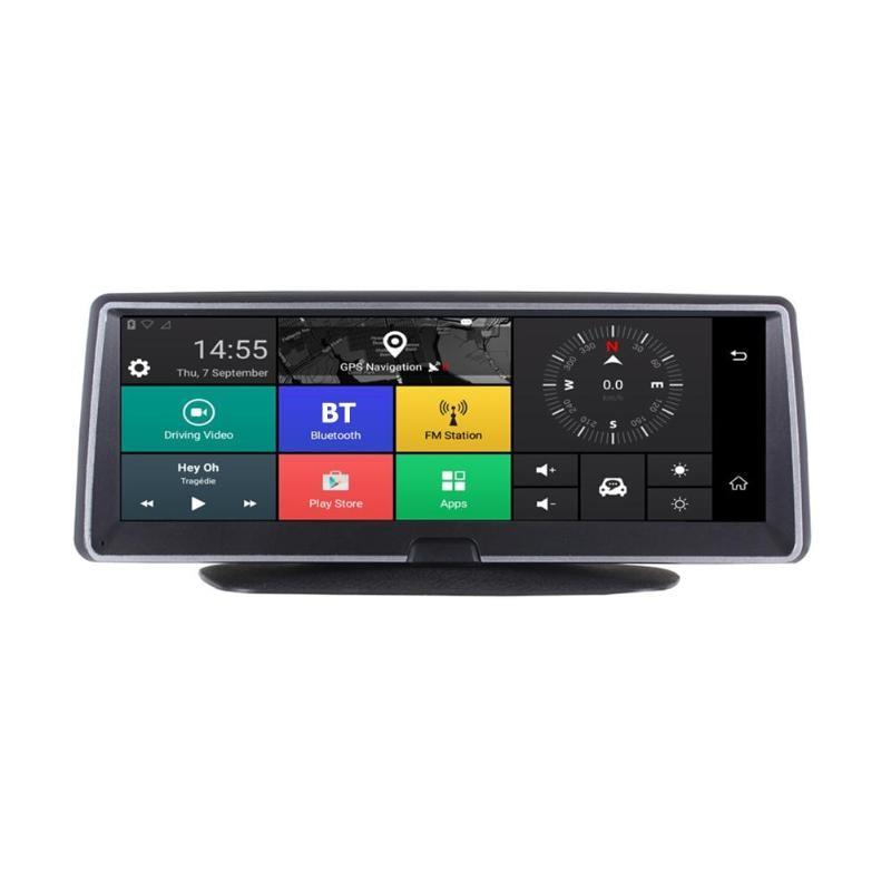 8in 1080P 4G Car Dash Cam GPS Navi Dual Lens Two way WiFi BT Android 5.1 DVR Camera Bluetooth ADAS FM Multi function DVR Camera