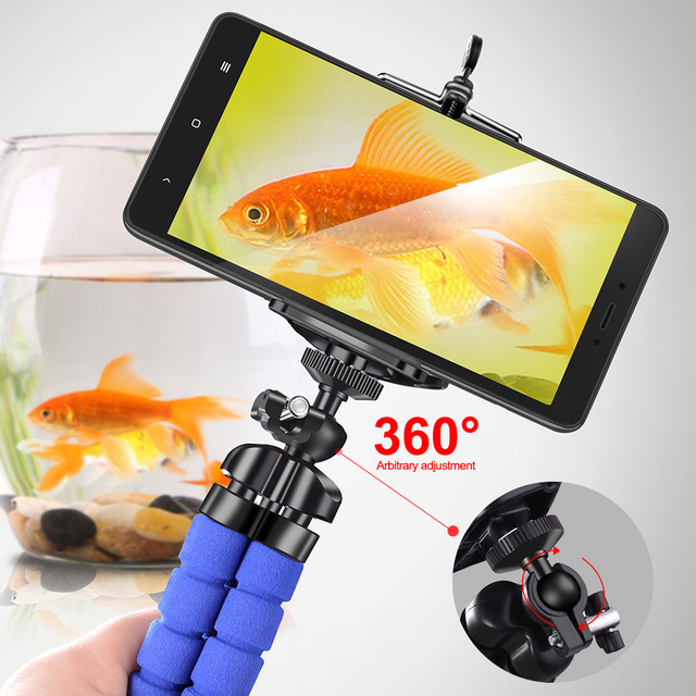 Phone holder Tripods tripod for phone Mobile camera holder Flexible Octopus Bracket For iPhone Xiaomi Samsung Clip Holder 1
