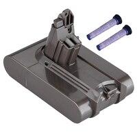 Filter V6 21.6 V 3000 Mah Li Ion Batterij Voor Dyson V6 Batterij Voor Dc58 Dc59 Dc61 Dc62 Stofzuiger Sv09 sv07 Sv03 Sv04 Sv06-in Stofzuigeronderdelen van Huishoudelijk Apparatuur op