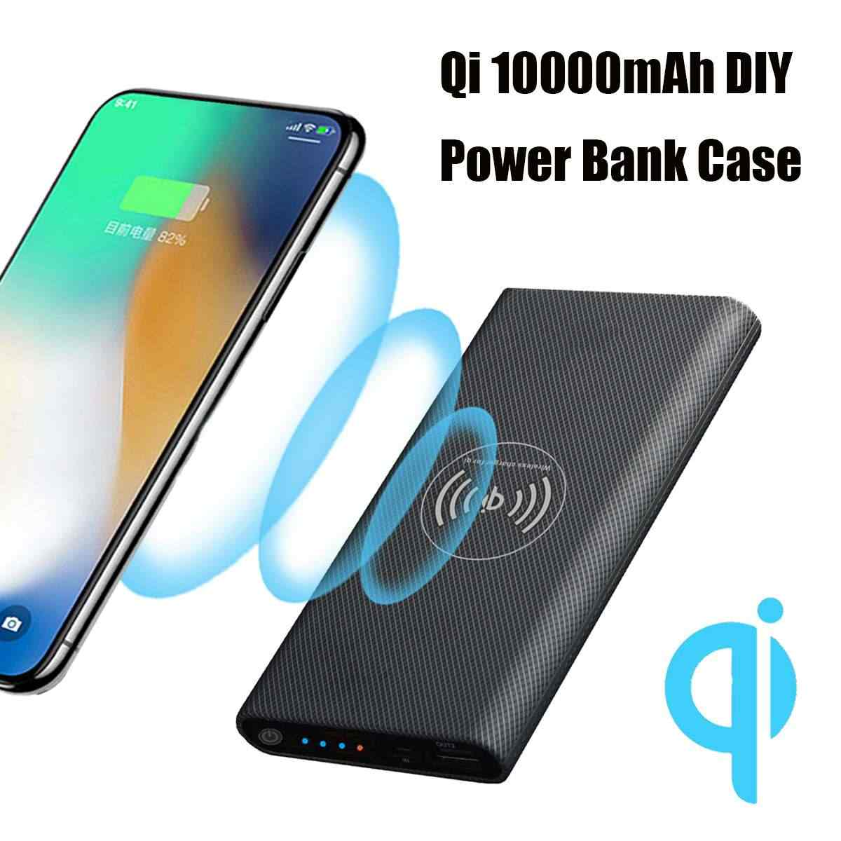 Diy Power Bank Bakeey Qi Wireless Charging Diy Power Bank Case 10000mah Without Battery Diy Power Bank Charger Box Kit For Iphone Xs Xr Xiaomi