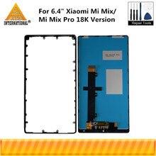 """6.4 """"orijinal Axisinternational Xiaomi Mi Mix için LCD ekran + dokunmatik Panel sayısallaştırıcı + orta seramik çerçeve Mi mix Pro 18K"""