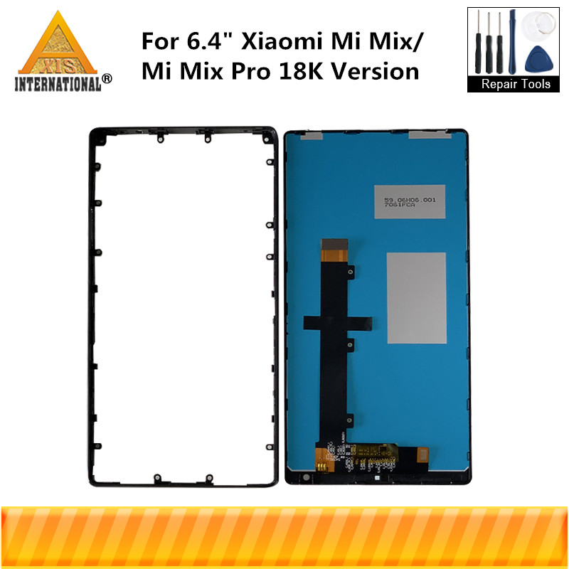 "Axisinternational For 6.4"" Xiaomi Mi MIX LCD Screen Display With Frame+Touch Panel Digitizer+Ceramic Frame For MIMIX Display-in Mobile Phone LCD Screens from Cellphones & Telecommunications"