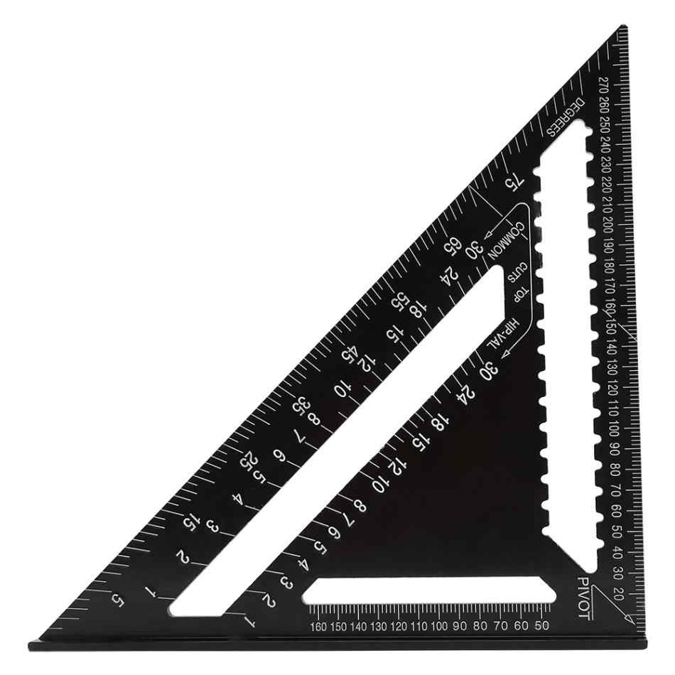 Hot Hot 12 Inch Precision Engineer Carpenter Angle Protractor Aluminum Alloy Triangle Shape Square Ruler Tools 2019 new style