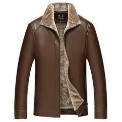 3627 зимняя теплая флисовая куртка повседневное толстые искусственная кожа полиуретан ветровка куртка-парка классический среднего