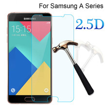Tempered Glass For Samsung Galaxy A5 2017 2.5D Premium Screen Protector For Samsung Galaxy A3 A5 A7 2016 2017 A8 A9 A72017 Film все цены