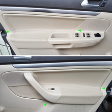 Интерьер автомобиля из микрофибры дверные ручки панель подлокотника Обложка для VW Jetta 2005 2006 2007 2008 2009 2010/Golf 5