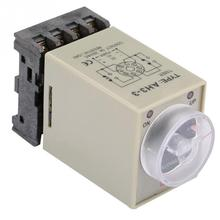 цена на AC 110V 0-10 Seconds Knob Control Timer Relay Delay ON Time Relay with Base Delay ON Time Relay