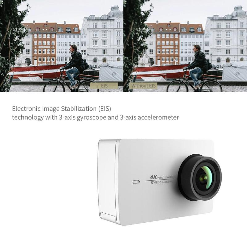 Xiaomi YI 4K caméra d'action Ambarella A9SE75 Sport caméra étanche bras 12MP CMOS 2.19in stabilisation d'image Wifi Xiaomi Action Cam - 6