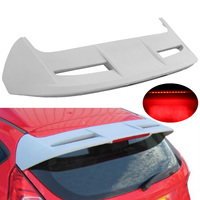 New ABS Plastic Rear Tailgate Roof Spoiler Wing Roof Spoiler Wing Lip With Light For Ford For Fiesta MK7 VII 8 RS 2008 2016