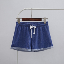 2019 Cotton Women Pants Girls Solid Pajamas Shorts Lacing Sleepwear Short Loose Summer Loungewear Teenage Sleep