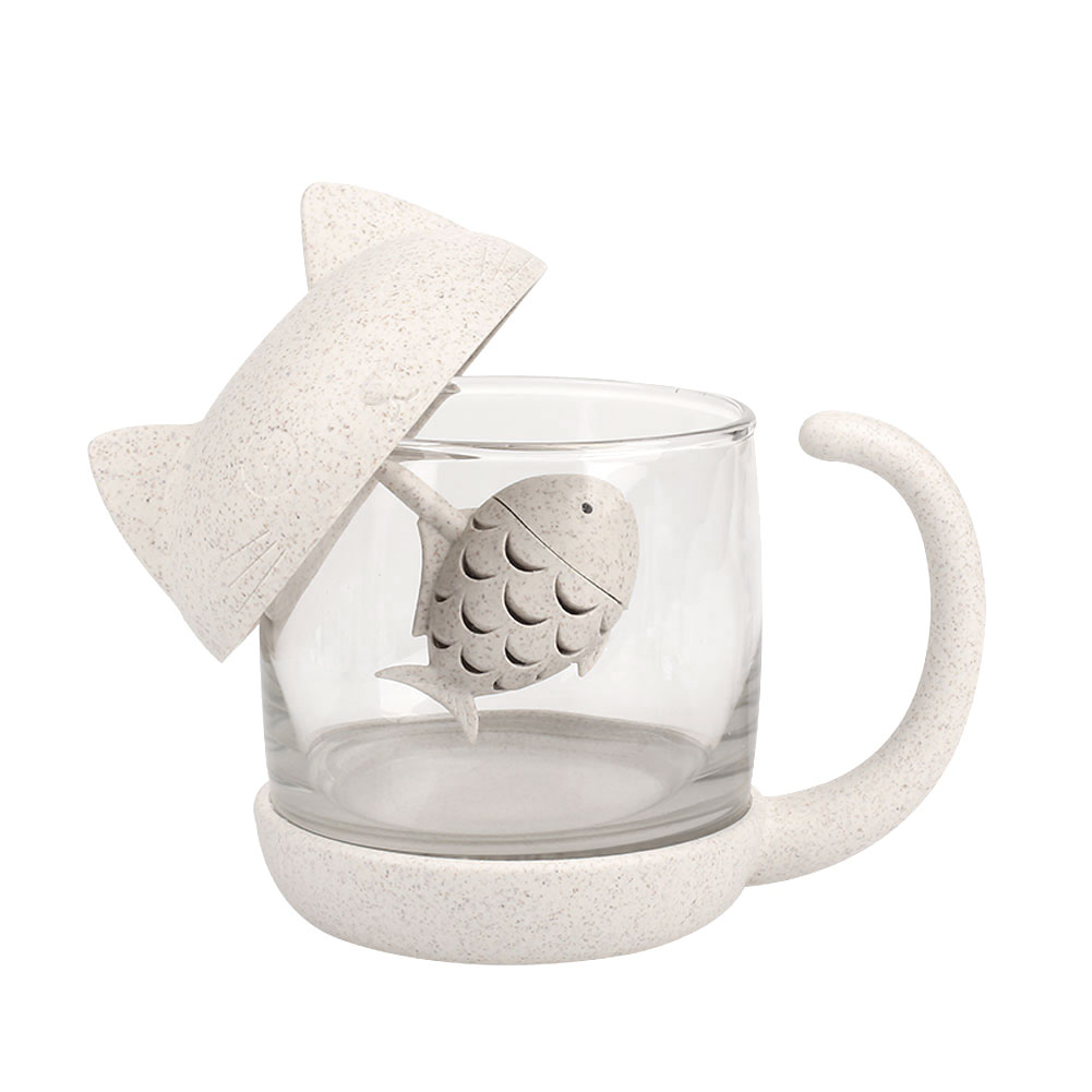 Чашка для воды кружка чай молоко креативный стеклянный милый
