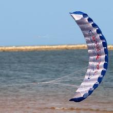 Забавный двусторонний парафойл воздушный змей с летающими инструментами мощная коса парусный кайтсерф Радужный спортивный пляжный воздушный змей играющий летающие игрушки на открытом воздухе