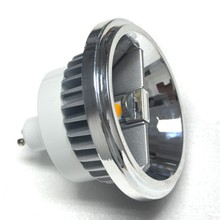 купить 12pcs/lot 15w LED AR111 lamp G53 GU10 led AR111 light ES111 LED spotlight AC85-265V Free shipping по цене 12895.98 рублей