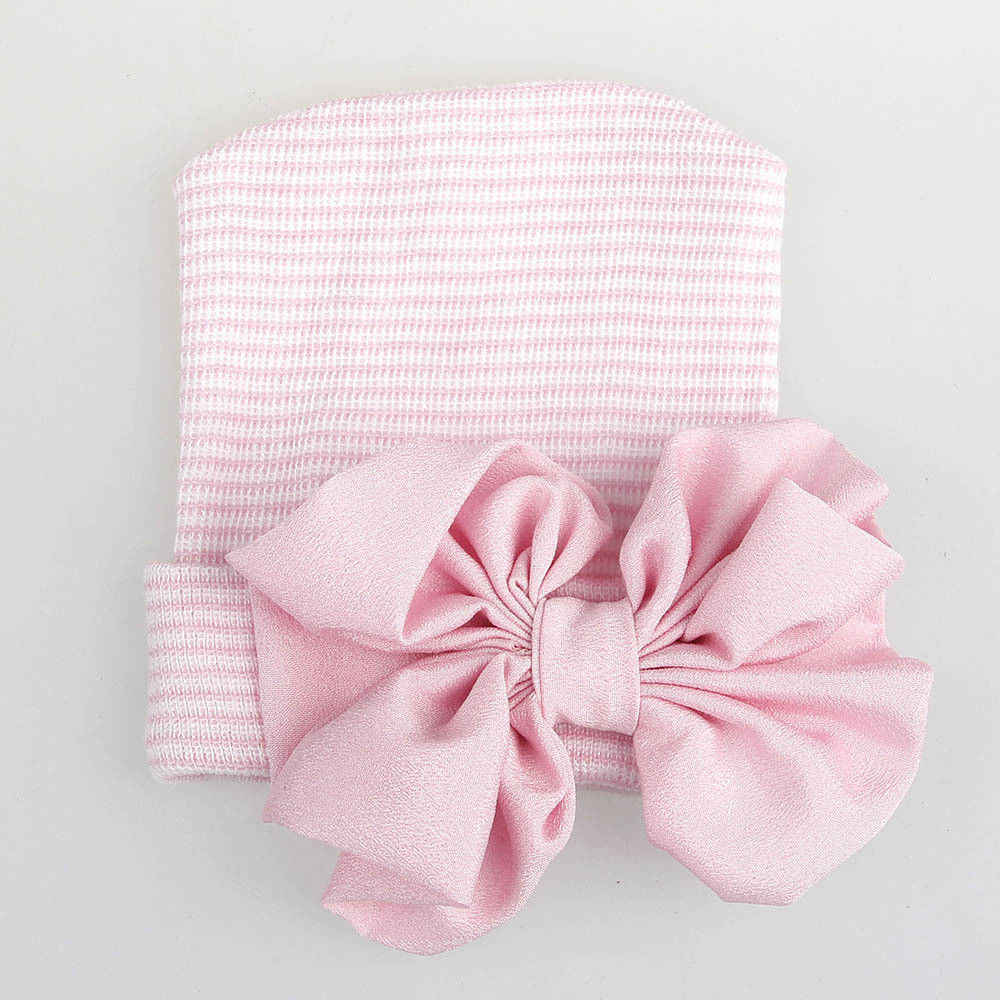 8f7841cddba0 ... 2018 Brand New Newborn Infant Baby Girls Boys Hats Comfy Bowknot Solid  Knit Warm Cap Beanie