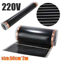 220V Electric 60 Degree Home Floor Infrared Underfloor Heating Warm Film Mat Household Electric Heating Pads Mayitr 50cmx2m 220v 80cm width radiant heat underfloor far infrared ray carbon fiber floor heating