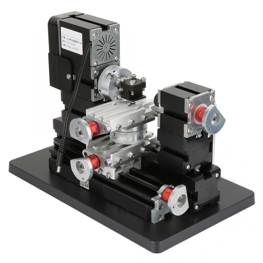 60W 12000RPM Metal Lathe DIY Miniature Machine Mill 100-240V Mini Milling Lathe
