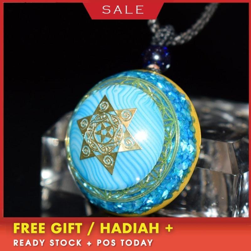 Elite Orgonite Energy Crystal Pendant Necklace Guardian Business Bring Lucky Stone Chakra Stone Pendant Birthday Gift C0095