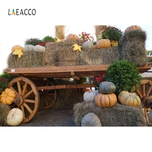 Laeacco Rural House Farm Haystack Harvest Backdrop Photography Backgrounds Customized Photographic For Photo Studio