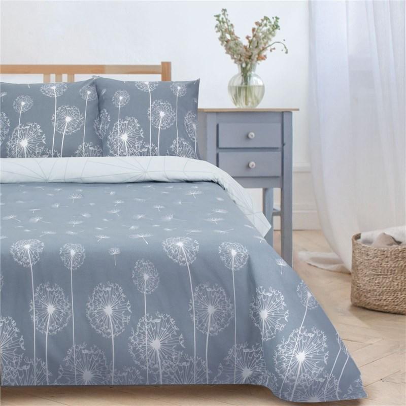 Bed Linen Ethel 1.5 CN Dandelions (Type 2) 143*215 cm, 150*214 cm, 70*70 cm-2 pcs, poplin bed linen ethel 1 5 cn love 143х215 cm 150х214 cm 50х70 3 2 pcs ранфорс 111g m2