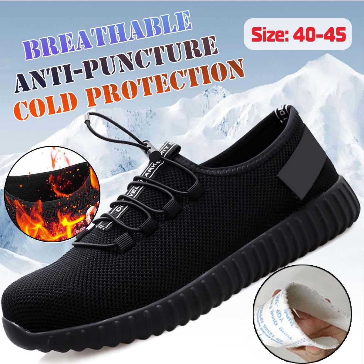 Outdoor Breathable Steel Toe Cap Work Safety Shoes Men Anti-slip Deodorant Steel Puncture Proof Construction Safety Boots Shoes
