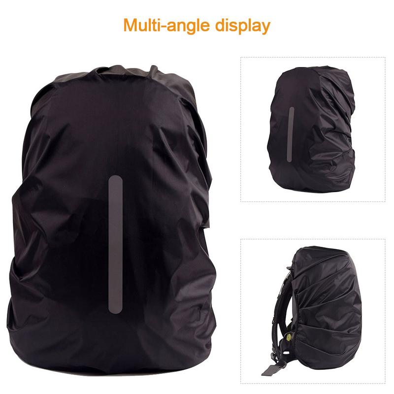 Ultra lightweight Camping Backbag Rain Cover Unisex Outdoor Night Safety Reflective Light Waterproof Portable Bag Rain Cover in Climbing Bags from Sports Entertainment
