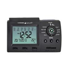 Desktop Alarm Prayer Clock Compass Electronic Calendar Plastic Luminous Practical Muslim Praying Islamic Clock Quick Delivery недорго, оригинальная цена