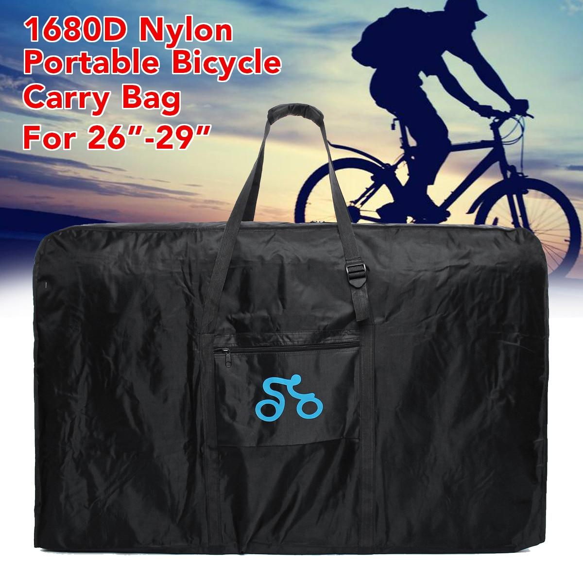 1680D 26-29 pouce Nylon Portable Sac De Transport De Vélos Vélo Vélo Transport Cas Voyage Vélo Accessoires