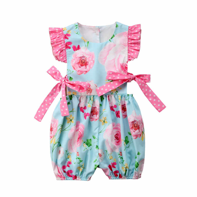 f8414d8ed 2019 Newborn Baby Girl Floral Romper Floral Jumpsuit Summer Sunsuit Clothes  Outfits Hot Sale Good Quality