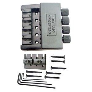 Image 3 - Black 4 String Bass Tailpiece Bridge System Saddle Headless Electric Bass Parts Accessory