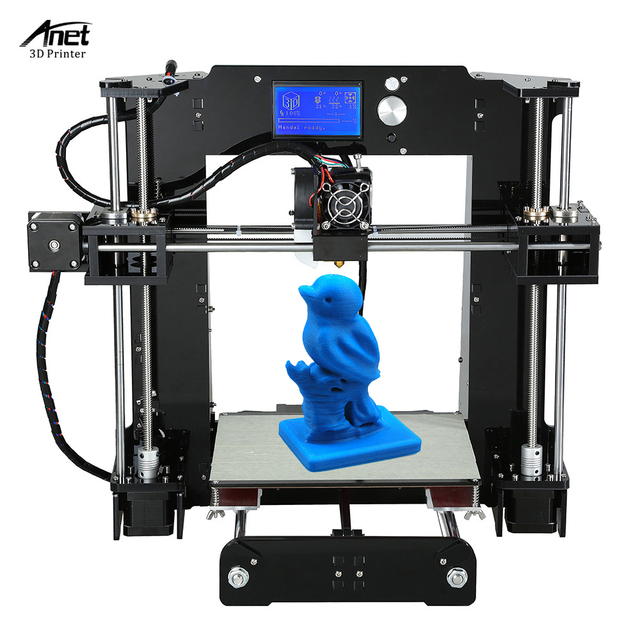 Anet A6 High Precision Big Size Desktop 3D Printer Kits Self Assembly LCD Screen with 16GB SD Card Printing Size 220*220*250mm