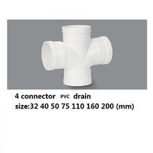 PVC 4 connector drain water pipe(China)