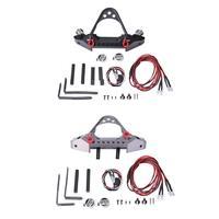 Aluminum alloy Simulation trailer tool climbing car accessoriesfor 1:10 RC Crawler Car Traxxas TRX 4 SCX10II 90046 2 LED Lights