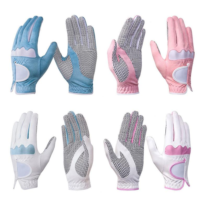 Womens Golf Gloves Microfiber Soft Fit Sport Grip Durable Gloves Anti skid Breathable Sports Gloves Breathable Summer Models Golf Gloves     -