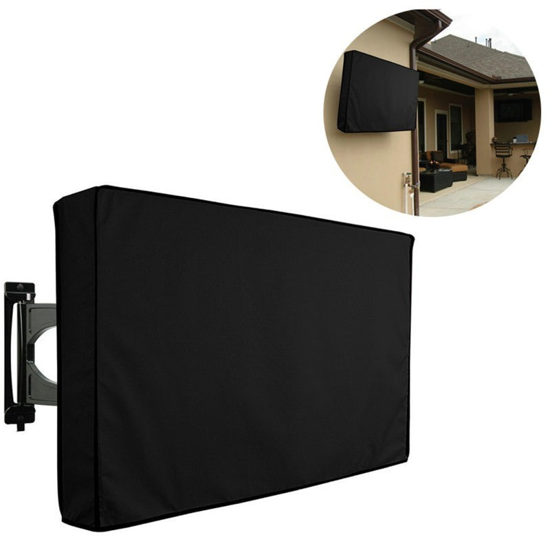 Waterproof <font><b>Outdoor</b></font> Garden <font><b>TV</b></font> <font><b>Cover</b></font> Dust Proof Oxford Fabric LED LCD Television Protective Case Multi Sizes 22-65 Inch image