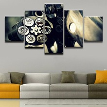 Wall Art Canvas Painting Revolver Poster 5 Pieces Home Decor For Living Room Printed Artwork Modular Pictures Framework