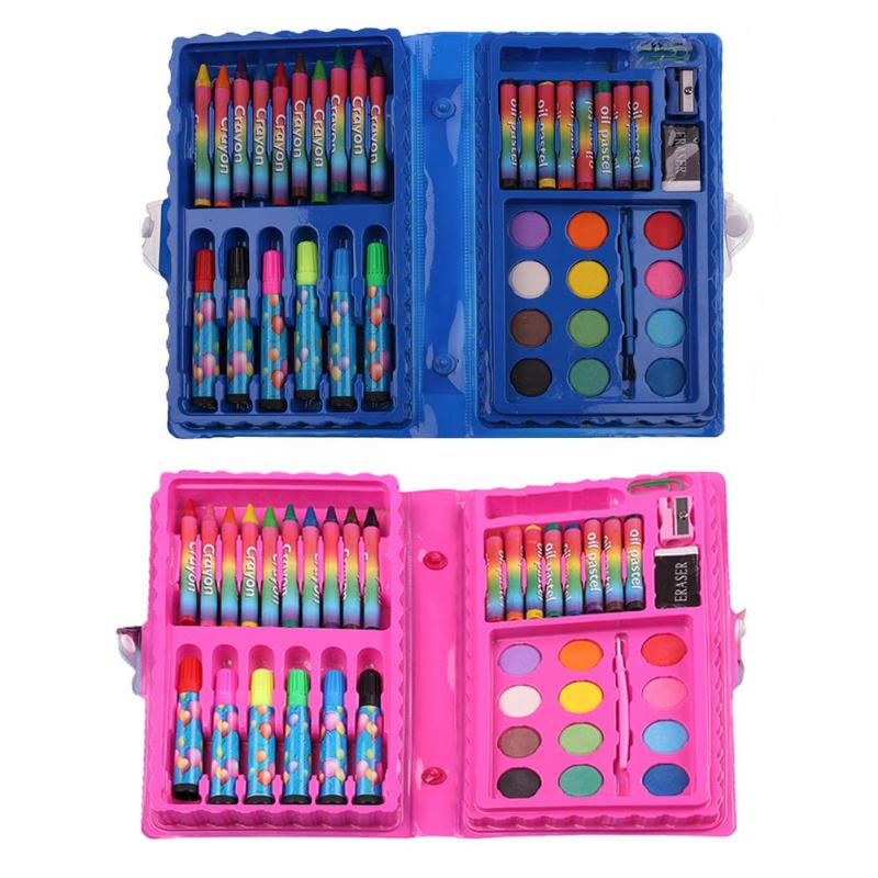 Kids 40pcs Wax Crayon Watercolor Pen Set Kids Water Color ...