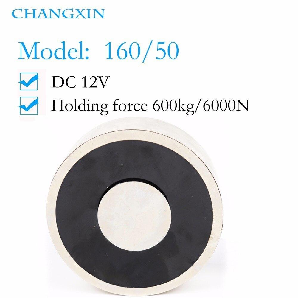 160*50mm grande aspiration 600 kg Dc 5 v/12 v/24 v grand électroaimant électroaimant de levage électrique électro fort aimant