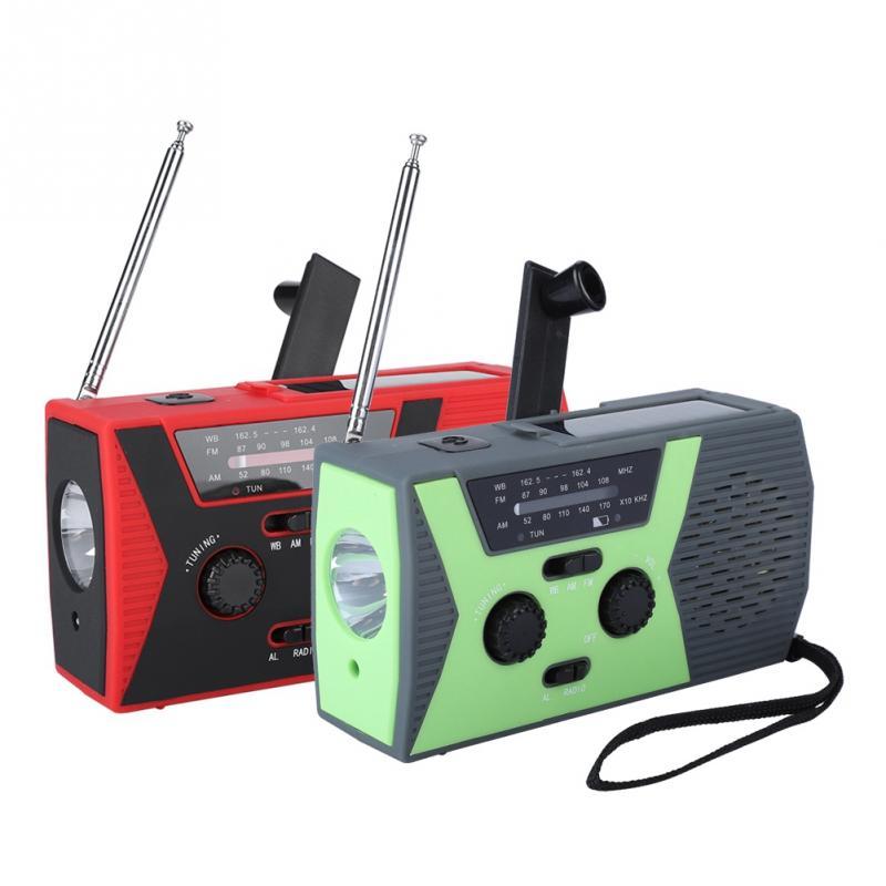 Tragbare Am/fm Noaa Wetter Radio Mit Led Taschenlampe Hand Gekröpft Solar Powered Fm Radio Unterstützung Alarm Telefon Lade Moderate Kosten Radio