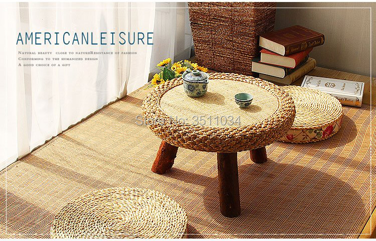 Anese Antique Rattan Round Table