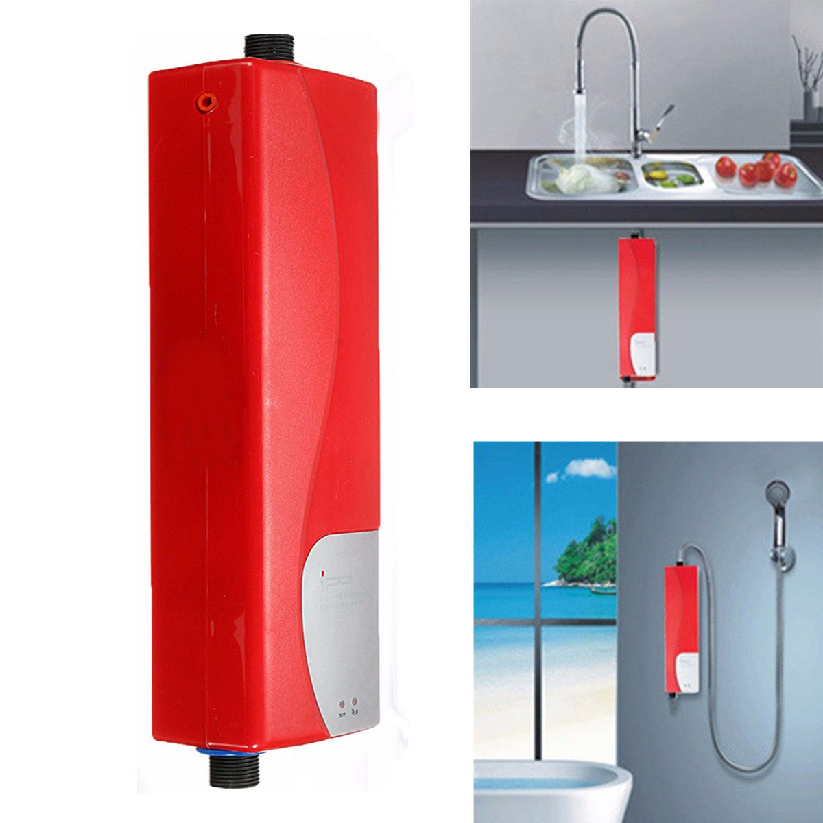 Electric Tankless Water Heater Instant Shower 220V 3000W ABS Household Water Heater For Indoor Kitchen Bathroom Water Heater(China)