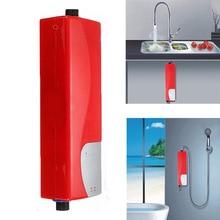 Электрический проточный водонагреватель, мгновенный Душ, 220 В, 3000 Вт, ABS, домашний водонагреватель для кухни, ванной комнаты, водонагреватель