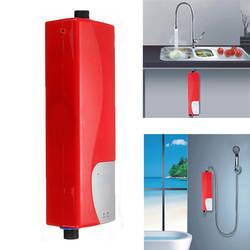 Электрический проточный водонагреватель мгновение Душ 220 В 3000 Вт ABS бытовой водонагреватель для внутреннего Кухня Ванная комната