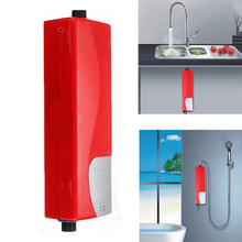 Electric Tankless Water Heater Instant Shower 220V 3000W ABS