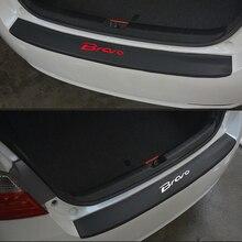 DELL'UNITÀ di elaborazione di pelle In fibra di Carbonio Styling Dopo la guardia Paraurti Posteriore Tronco Lamiera di Protezione Accessori Per Auto Per Fiat Bravo