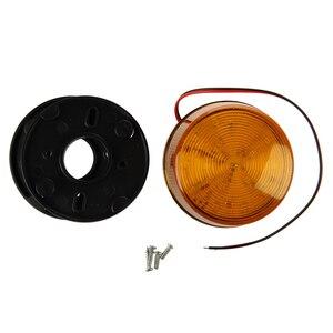 Image 5 - 12V güvenlik Alarm Strobe sinyal güvenlik uyarı mavi/kırmızı yanıp sönen LED ışık turuncu sıcak