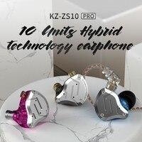 Kz Zs10 Pro Aptx Hd Bluetooth Cable In Ear Earphones Hybrid 4Ba+1DD Hifi Bass Earbuds Metal Headphone Sport For Iphone